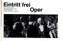 """Kurt Blum: """"Eintritt frei  Oper"""""""