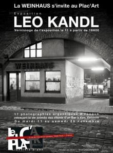 """Plakat Ausstellung """"Weinhaus"""" von Leo Kandl bei Plac'Art in Paris"""