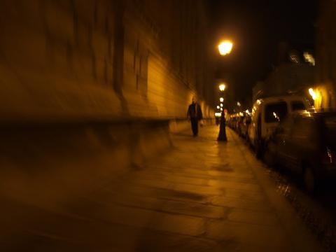 Paris Strasse in der Nacht