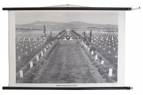 """Schulwandbild, A. Ehrhardt: """"Soldatenfriedhof Pomezia/Italien"""""""